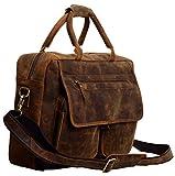 Leather Briefcase 18 inch Full grain buffalo leather laptop bag messenger bag best satchel for men women
