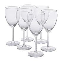 IKEA - SVALKA White wine glass, clear glass, H:7
