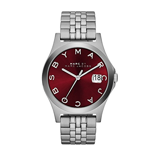 Marc by Marc Jacobs MBM3314 Mens Red Silver The Slim Watch