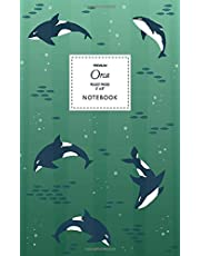 Orca Notebook - Ruled Pages - 5x8 - Premium: (Emerald Edition) Fun notebook 96 ruled/lined pages (5x8 inches / 12.7x20.3cm / Junior Legal Pad / Nearly A5)