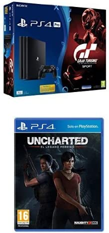 PlayStation 4 Pro (PS4) - Consola de 1TB + GT + Uncharted: El ...