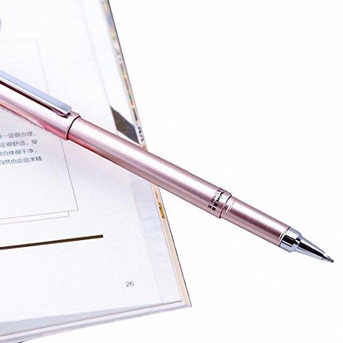 UniM Ballpoint Pen Metal Signature Pen, Fine Point (0.5mm) - 12-Count, Black (Rose Gold)
