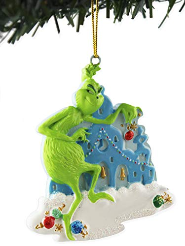 Dr Seuss Grinch Kurt Adler Holiday Personalizable Ornament Boxed