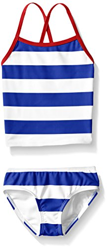(Kanu Surf Toddler Girls' Alexa Beach Sport 2-Piece Banded Tankini Swimsuit, Layla Blue Stripe, 2T)