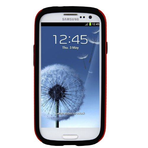 Melkco - Kubalt Type Double Layer Case for Samsung Galaxy SIII I9300 with Premium Screen Protector - (Red/Black) -SSGY93PSKU1RDBK