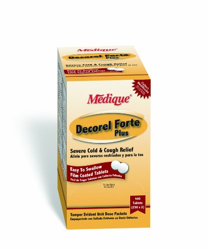 Medique Products 42513 Decorel Forte Non Drowsy, 250-Packets of 2, Severe Cold and Cough Relief - Non Drowsy Decongestants