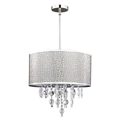 elegant-modern-classy-chandelier-with-4-light-ceiling-round-drum-pendant-chrome-metal-shade-with-cry