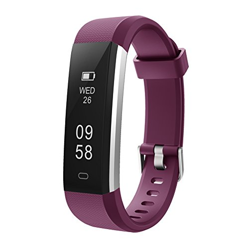 Letsfit Fitness Tracker, Waterproof Activity Tracker Pedometer Step Counter Watch Sleep Monitor Calorie Counter Watch, Slim Smart Bracelet Kids Women Men