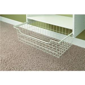Easy Track 1308 Wire Basket, White, 8 Inch by Easy Track Easy Track Wire Basket