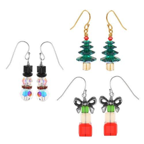 Crystal Christmas Earring Set Kit - Exclusive Beadaholique Jewelry Kit (Crystal Swarovski Earring Kit)