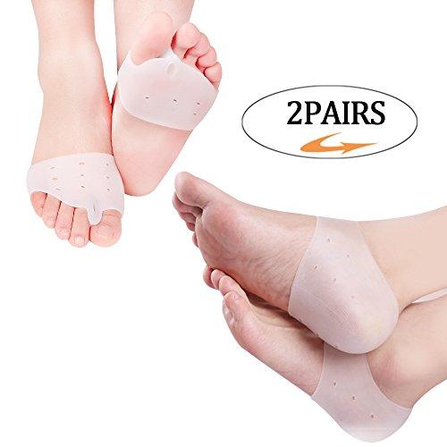 Guard Half (Heel Guard Gel & Bunion Corrector/Half Toe Sleeve Forefoot Cushion Metatarsal Pads Heel Protectors)