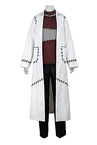 SIDNOR Soul Eater Professor Franken Stein Cosplay Costume Outfit Doctor Lab Coat Jacket