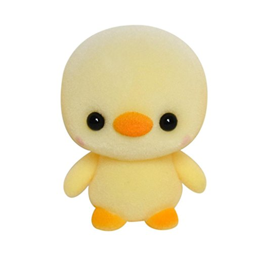 Dartphew Toys,Dartphew 1Pcs Soft Plush Doll Mini Cute Duck Toy-for Safe & Fun Role Play for Kids Baby Boys Girls,Safety Non-toxic-Development of Intellectual Thinking(Height:about 5.5cm/2.16inch) ()