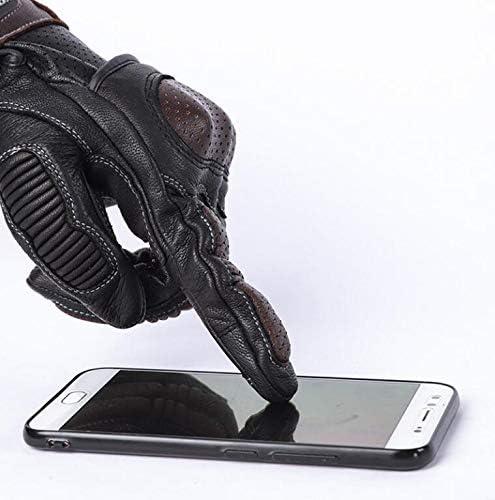 MTCXCQ Gants de Moto en Cuir Vintage pour Homme avec /écran Tactile