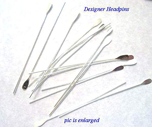 Jewelry Making Beads Designer Silver Plated Head Pins Headpins 100 ()