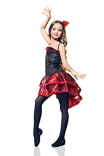 [Little Gypsy Esmeralda Flamenco Dancer Spanish Princess Senorita Dress Up & Role Play Halloween Costume (3-6] (Flower Child Costumes Ideas)
