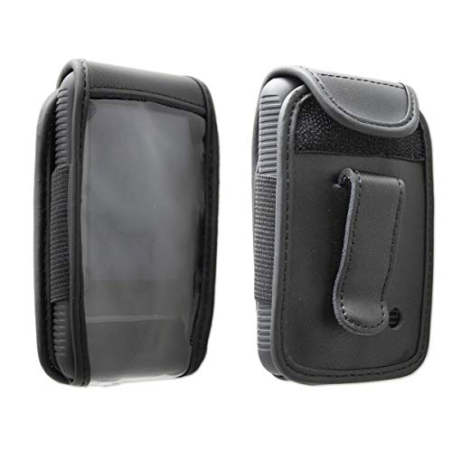 caseroxx Leather-Case with Belt Clip for Dexcom G6 Made of Real Leather, Mobile Phone Cover in Black