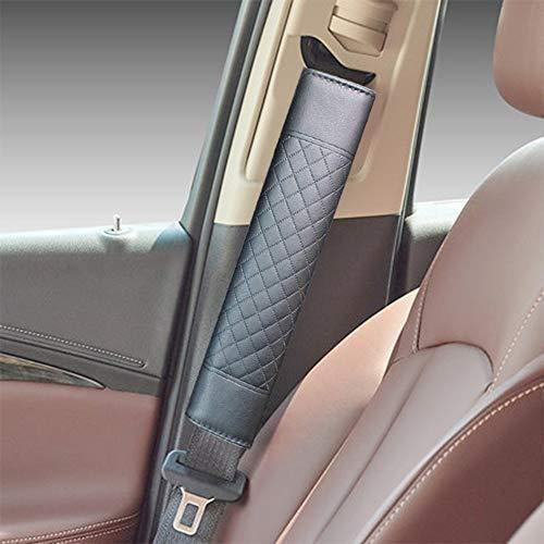 Depory 2X Auto de Seguridad Cinturà ³ n Correa para el Hombro Protector Pads Ajuste Almohadilla para cinturà ³ n de Seguridad(Negro)
