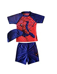 LC Boutique Boys Spiderman Super Hero Three Piece Rash Guard Set in sizes 3T-7