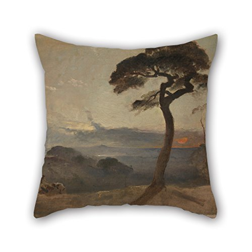 Oil Painting Francis Danby - Hampstead Heath, Sunset Throw Cushion Covers 20 X 20 Inches / 50 By 50 Cm Best Choice For Festival Car Shop Home Office Him Drawing Room With Each Side
