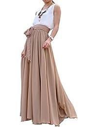 Beatiful Bow Tie Summer Beach Chiffon High Waist Maxi Skirt