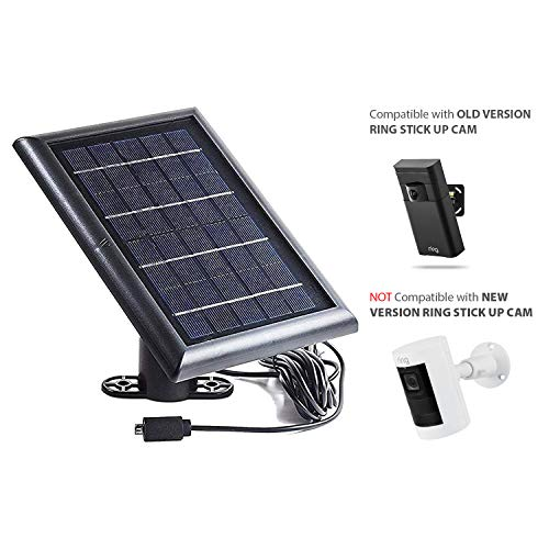 Solar Panel for Ring Stick Up Cam and Reolink Argus 2 - Power Your Device with Our Solar Charger (Not Compatible with The New Version of Ring Stick Up Cam Battery HD)