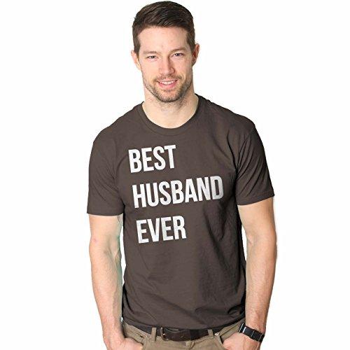 Husband Funny Novelty T-shirt (Mens Best Husband Ever T Shirt Funny Novelty Sincere Anniversary Tee For Guys (Brown) - M)
