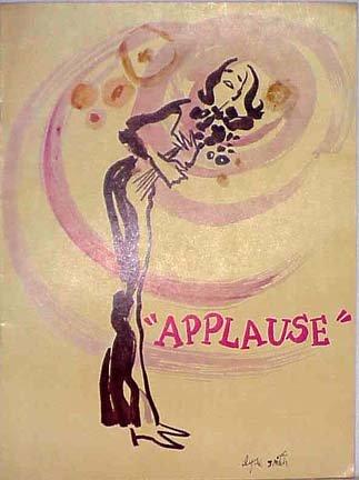 Applause 1972. Vintage Souvenir Program