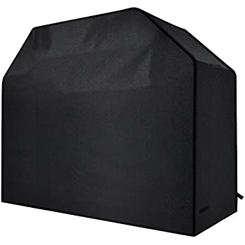 Homitt Gas Grill Cover, 58-inch 600D Heavy Duty Waterproof BBQ Grill Cover for Most Brands of Grill -Black