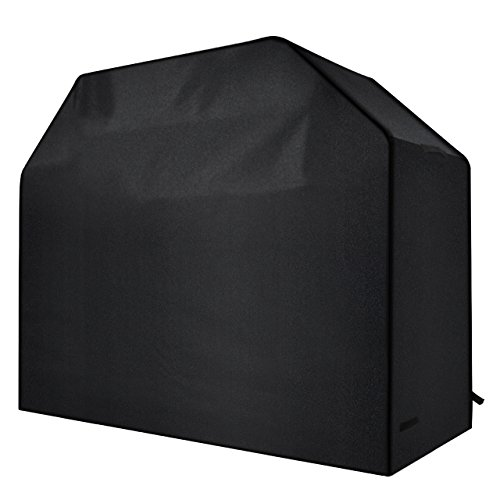 Homitt Gas Grill Cover, 58-inch 3-4 Burner 600D Heavy Duty Waterproof BBQ Grill Cover for Most Brands of Grill -Black (Q B Covers Bar)