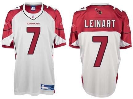 d1a642e81ed9 Matt Leinart Arizona Cardinals  7 Authentic Reebok NFL Football Jersey  (White)