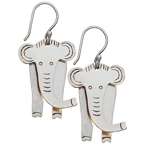 - Fair Trade Jewelry - Dangle Earrings - Babar Elephant Earrings - dZi Sweet Bird Collection