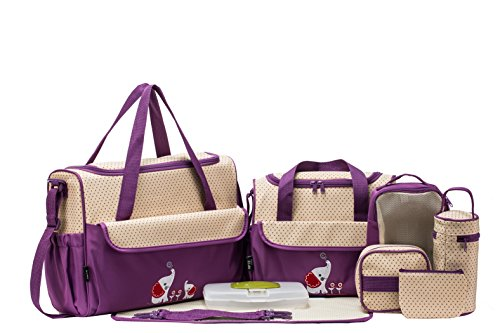 soho-collections-diaper-bag-set-lavender-with-elephant-10-pieces