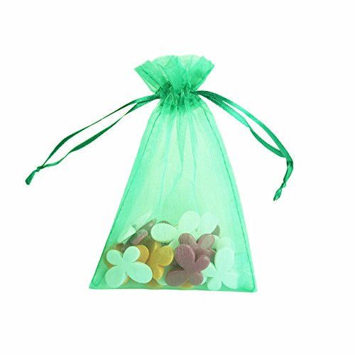 Smozer Sheer Organza Bags, 100pcs 4x6 inch Sheer Organza Wedding Party Favor Gift Jewelry Beads Candy Pouch Bag (Mix Color) by Smozer (Image #1)