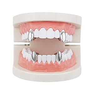 Amazon.com: Juego de dientes de vampiro para hombre, chapado ...