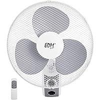 EDM 33916 Ventilador Pared con Mando A Distancia 45W, Blanco, 40 cm
