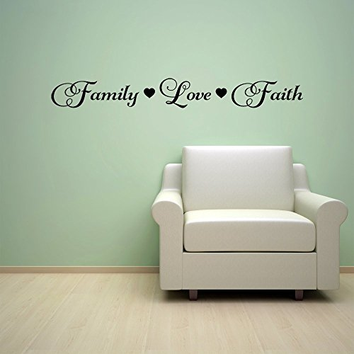 Family Love Faith Quote Vinyl Wall Decal Sticker by Wall Decals by Vinyl Designs