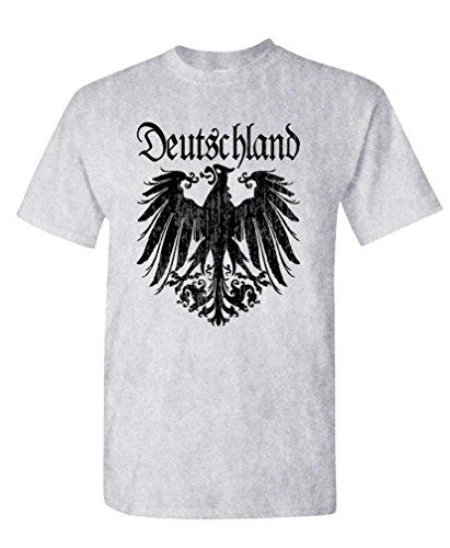 - Black Deutschland Eagle - German Soccer Tee Shirt T-Shirt, M, Ash
