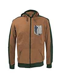 Attack on Titan Scout Regiment Chest Logo Zip Up Hooded Sweatshirt