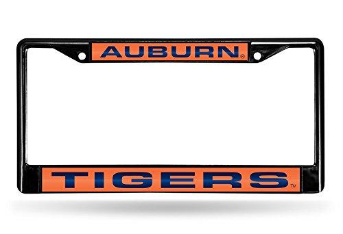 Rico Industries NCAA Auburn Tigers Laser Cut Inlaid Standard Chrome License Plate Frame, 6