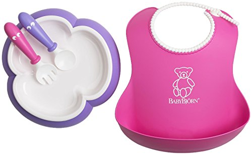babybjorn-baby-feeding-set-pink-soft-bib-multi