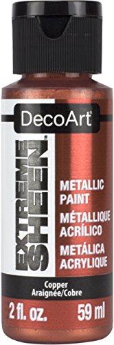 DecoArt 2 Ounce, Copper Extreme Sheen Paint, 2 oz (Sheen Finish Metallic)