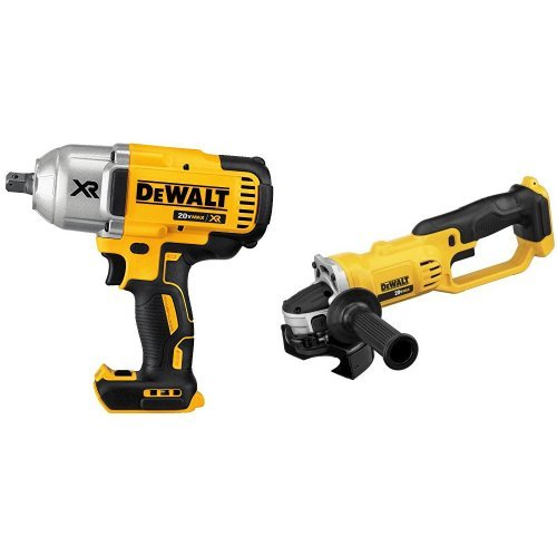 DEWALT DCF899B 20V MAX XR Brushless High Torque 1//2-Inch Impact Wrench with Detent Anvil /& DEWALT DCG412B 20-volt Max Li-Ion Cut Off Tool