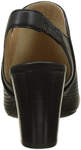 Sandalias Negro para Geox D con Abierta D Mujer Eudora Punta qHO7tHz