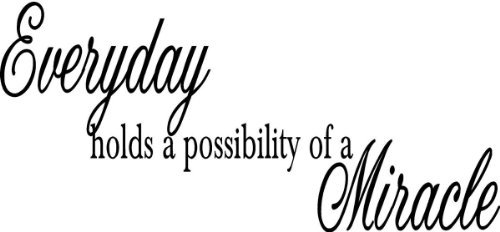 Everyday holds a possibility of a Miracle wall quote wall decals wall decals quotes