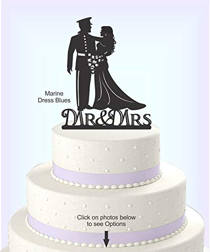 Wedding Cake Topper, Military Uniform, Marine, Army, Navy, Airforce, Acrylic Cake Topper[CT9m]