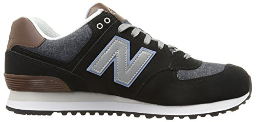 New Balance Herren WL574 Sneakers, Blu, 46.5 EU Mehrfarbig (Black/Brown/White)
