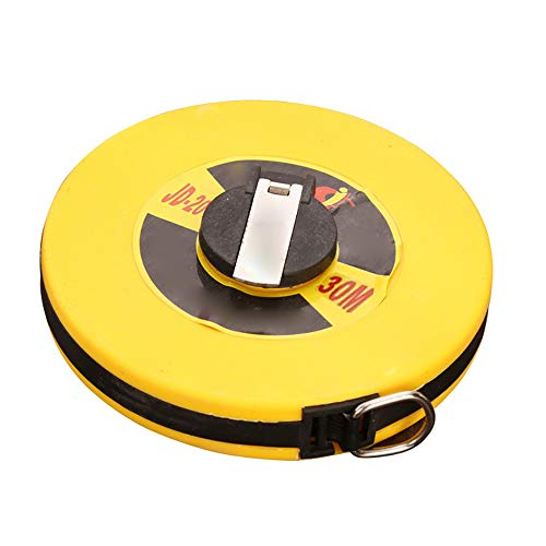 Retractable Fiberglass Tape Measure - Soft Long Tape Rule Measuring Ruler Retractable Fiberglass Tape Measure (30 Meters/98Ft)