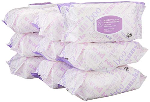 Amazon Elements Baby Wipes,...