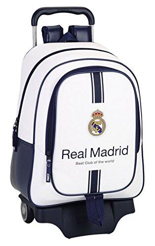 Safta-Real-Madrid-Mochila-Grande-Ruedas-Color-Blanco